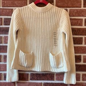 Polo by Ralph Lauren Girls Cream Knit Sweater